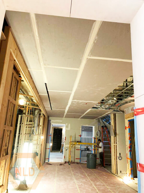 Drywall and taping - Commercial Renovation