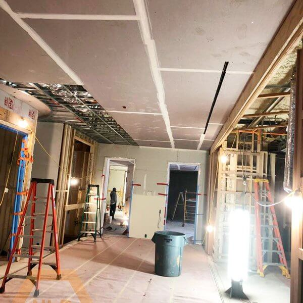 Drywall and taping – Residential Renovation